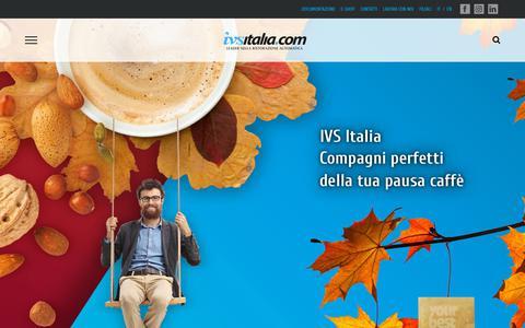 Screenshot of Home Page ivsitalia.com - IVS ITALIA – Distributori Automatici - captured Oct. 11, 2018