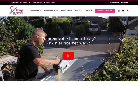 Screenshot of Home Page trapxpress.nl - Traprenovatie in 1 dag?   TrapXpress Traprenovatie - captured Sept. 21, 2018