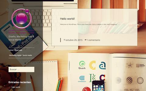 Screenshot of Home Page lineapurpura.com - Diseño, Marketing web & Social Media – Diseño, Marketing web & Social Media - captured Nov. 9, 2016