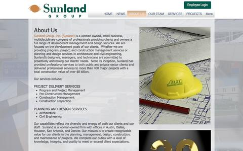 Screenshot of About Page sunlandgrp.com - sunland-group | ABOUT US - captured Oct. 24, 2017