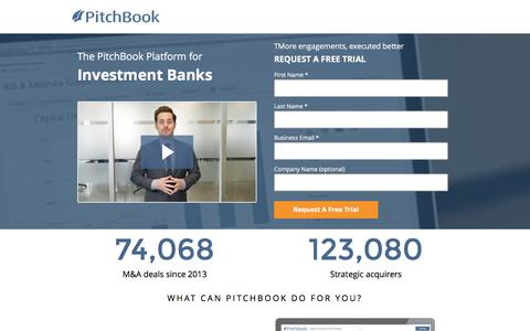 Screenshot of Landing Page pitchbook.com captured Dec. 14, 2016