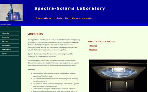 Screenshot of About Page spectra-solaris.com - Spectra-Solaris - About Us - captured Nov. 4, 2014