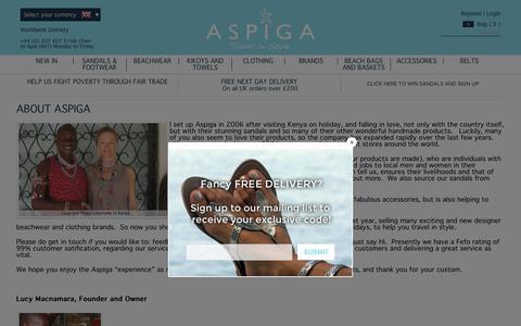 Screenshot of About Page aspiga.com - About us | Aspiga - captured May 30, 2017