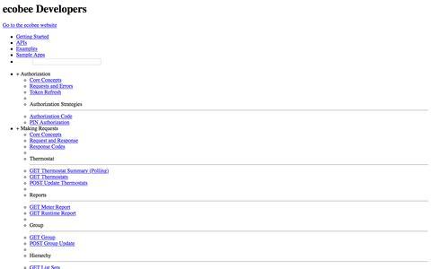 ecobee API
