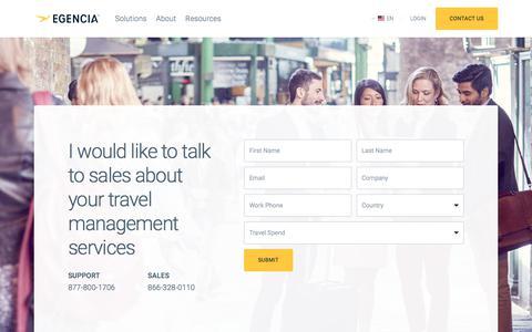 Screenshot of Contact Page egencia.com - Contact Us | Egencia - captured Jan. 17, 2018