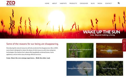 Screenshot of Home Page zed.in - Luxury Villas, Homes, Plots for Sale in North Bangalore, Mysore and Chennai - ZED - captured Oct. 5, 2014