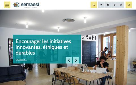 Screenshot of Home Page semaest.fr - Semaest aménage et anime votre quartier - captured Nov. 28, 2018