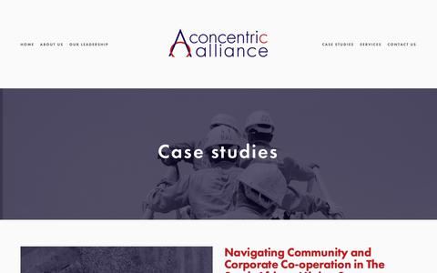 Screenshot of Case Studies Page concentricalliance.com - Case studies — Concentric Alliance - captured Sept. 28, 2018