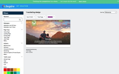 Screenshot of Trial Page crayon.co - Non-Profit Trial Pages | Website Inspiration and Examples | Crayon - captured Nov. 26, 2019