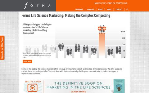 Forma Life Science Marketing