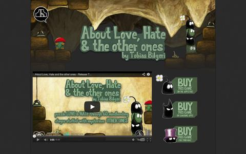 Screenshot of About Page tinyandbig.com - About Love and Hate | Black Pants - captured Nov. 3, 2014