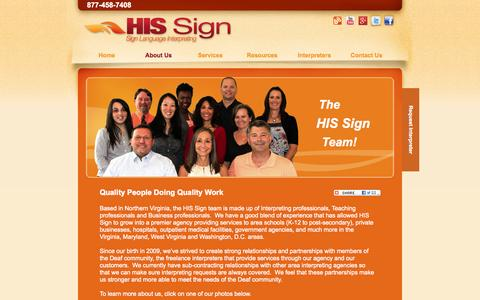 Screenshot of Team Page hissign.com - Meet the HIS Sign Staff - captured Oct. 1, 2014
