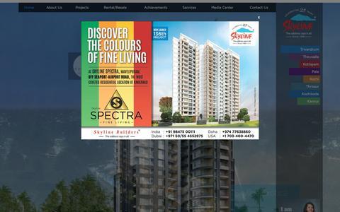 Screenshot of Home Page skylinebuilders.com - Home - captured Dec. 9, 2015