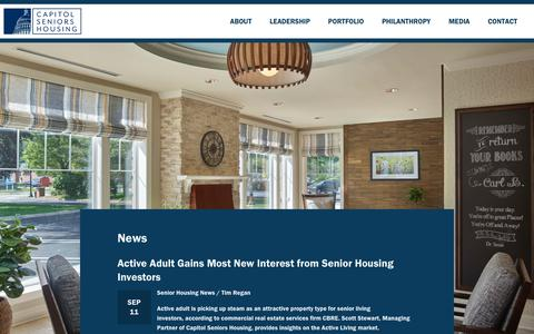 Screenshot of Press Page capitolseniorshousing.com - News - New - Capitol Seniors Housing - captured Sept. 27, 2018