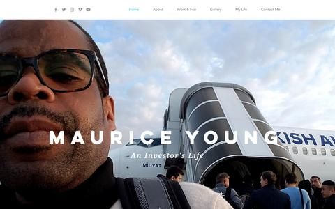 Screenshot of Home Page mauriceyoung.com - Investing & Wealth Building | Maurice Young - captured Oct. 18, 2018