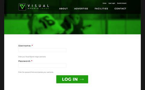 Screenshot of Login Page visualsportsimage.com - User account | Visual Sports Image - captured Oct. 26, 2014