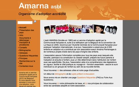 Screenshot of Home Page amarna.org - Amarna-Home - captured June 2, 2016