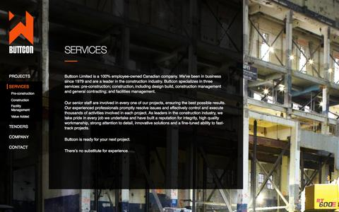 Screenshot of Services Page buttcon.com - Services - Buttcon Limited - captured Feb. 8, 2016
