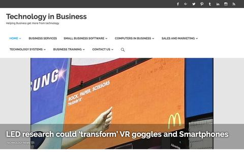 Screenshot of Home Page technology-in-business.net - Technology is a driving Force within Business , this is a blog dedicated to Technology in Business. - captured Oct. 19, 2018