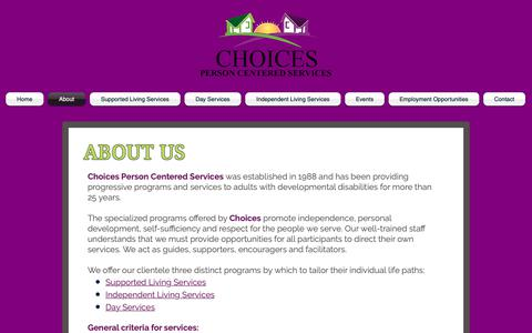Screenshot of About Page cts-choices.org - choices-pcs | About - captured Sept. 28, 2018