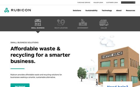 Waste Management Company and Recycling Platform   Rubicon Global