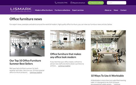 Screenshot of Press Page lismark.co.uk - Office Furniture News & Insights | Lismark Office Furniture Experts - captured Sept. 29, 2018