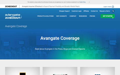Screenshot of Press Page avangate.com - eCommerce Trends | Latest Software Press and eCommerce News - captured March 4, 2018