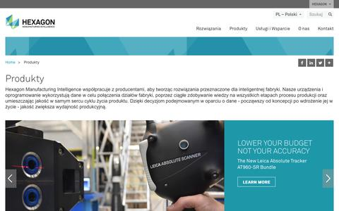 Screenshot of Products Page hexagonmi.com - Produkty | Hexagon Manufacturing Intelligence - captured Nov. 25, 2017