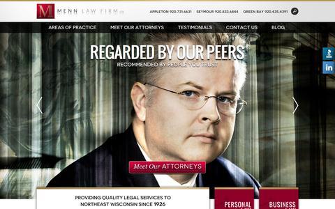 Screenshot of Home Page mennlaw.com - Menn Law - captured Sept. 6, 2015