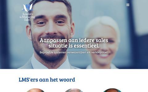 Screenshot of Team Page lmsales.nl - Team - LMSales - captured July 5, 2018