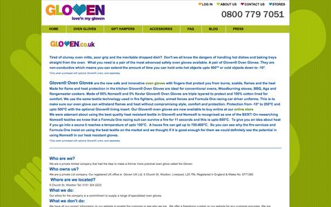 Screenshot of About Page gloven.co.uk - About  Us   Gloven Oven Gloves   Kitchen Gloves   Amazing Glove Oven Gloves As Seen On TV - captured Oct. 2, 2014