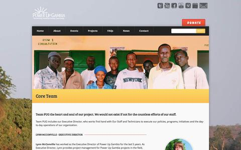 Screenshot of Team Page powerupgambia.org - Core Team - Power Up Gambia - captured July 15, 2016