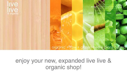 Screenshot of Home Page live-live.com - Live Live & Organic Online Store – live live & organic - captured May 4, 2017