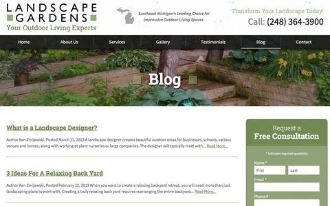 Screenshot of Blog landscape-gardens.com - Blog - Landscape Gardens - captured July 11, 2016