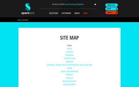 Screenshot of Site Map Page sparklane-group.com - Blog posts - Page | Sparklane - captured Nov. 19, 2017