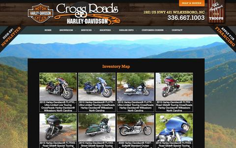 Screenshot of Site Map Page crossroads-hd.com - Inventorymap | CrossRoads Harley-Davidson® | Wilkesboro North Carolina - captured Oct. 3, 2014