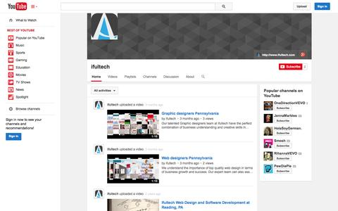 Screenshot of YouTube Page youtube.com - ifultech  - YouTube - captured Oct. 25, 2014