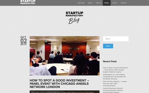 Screenshot of Blog startupmanufactory.com - Startup Business Consulting Advice London | Blog - captured Jan. 12, 2016