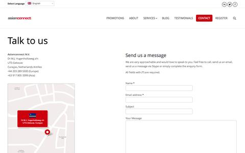 Screenshot of Contact Page asianconnect88.com - Talk to us - contact Asianconnect88 - captured Sept. 23, 2014