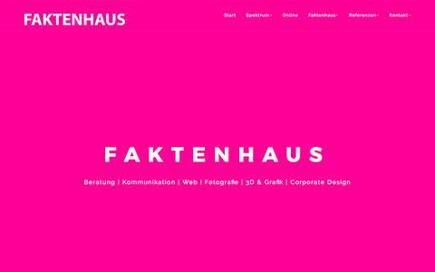 Screenshot of Home Page faktenhaus.de - Start - Faktenhaus - captured Oct. 13, 2017