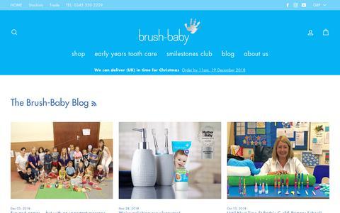 Screenshot of Press Page brushbaby.co.uk - The Brush-Baby Blog | Baby Teething Toothbrush  – BrushBaby - captured Dec. 19, 2018