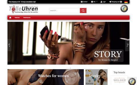 Screenshot of Home Page tolle-uhren.de - Tolle-Uhren.de - Buy watches and jewelry online - captured June 9, 2016