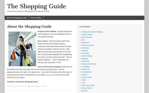 Screenshot of Home Page the-shopping-guide.info - The Shopping Guide - captured Sept. 25, 2016
