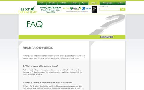 Screenshot of FAQ Page astorbannerman.co.uk - Astor Bannerman | FAQ - captured Nov. 21, 2016