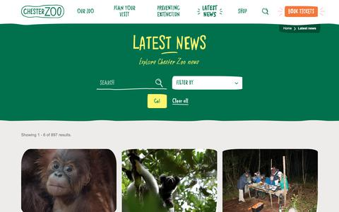 Screenshot of Press Page chesterzoo.org - Latest news | Chester Zoo - captured May 5, 2019