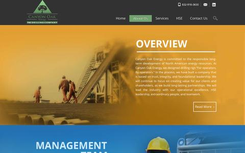 Screenshot of About Page canyonoakenergy.com - About Us | Canyon Oak Energy - captured Dec. 7, 2015