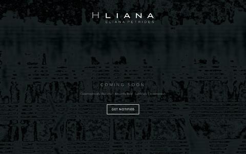 Screenshot of Home Page hliana.com - HLIANA - captured July 14, 2018