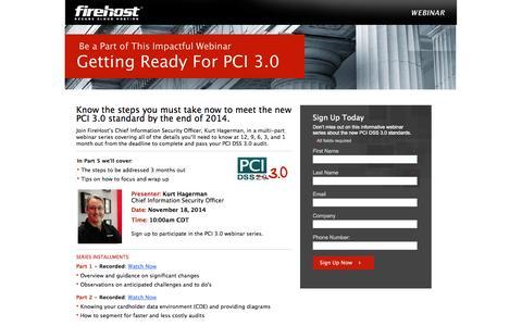 Screenshot of Landing Page firehost.com - FireHost: Join Our Informative Webinar - captured Oct. 28, 2014