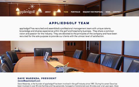 Screenshot of Team Page appliedgolf.com - appliedgolf Golf - Course Management Company   TEAM - captured May 31, 2017
