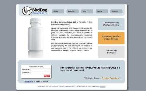 Screenshot of Home Page birddogmarketinggroup.com - Bird Dog Marketing Group - captured Oct. 5, 2014